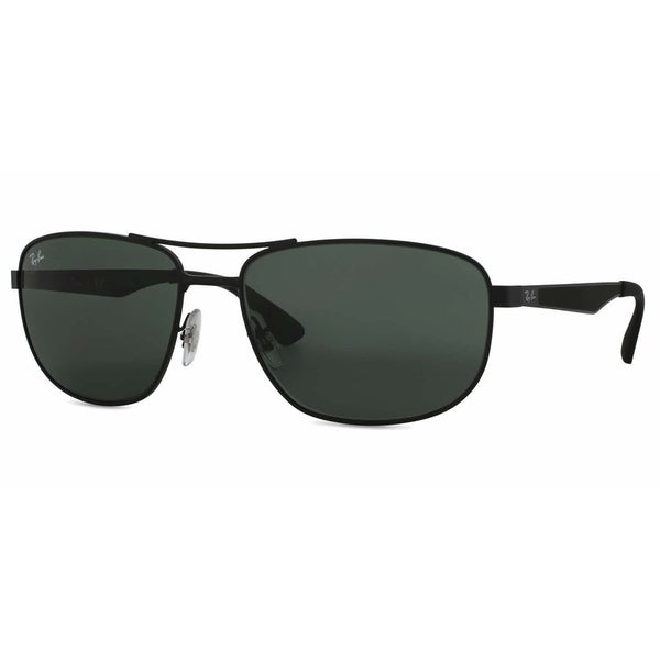 ae5be53bd6079 Ray-Ban RB3528 006 71 Black Frame Green Classic 61mm Lens Sunglasses