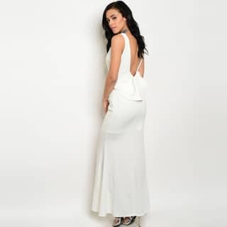 Shop The Trends Women's Sleeveless Long Bodycon Dress With Open Back And Ruffle Detail|https://ak1.ostkcdn.com/images/products/14431514/P20997725.jpg?impolicy=medium
