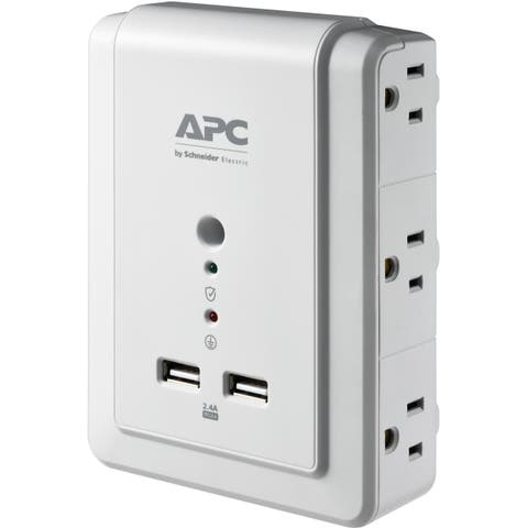 APC by Schneider Electric Essential SurgeArrest 6 Outlet Wall Mount With USB, 120V