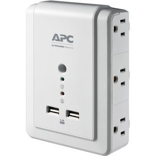 APC by Schneider Electric Essential SurgeArrest 6 Outlet Wall Mount W