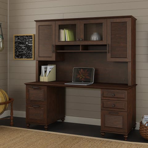 "Volcano Dusk 70"" Desk, Storage Hutch from kathy ireland Home by Bush Furniture"