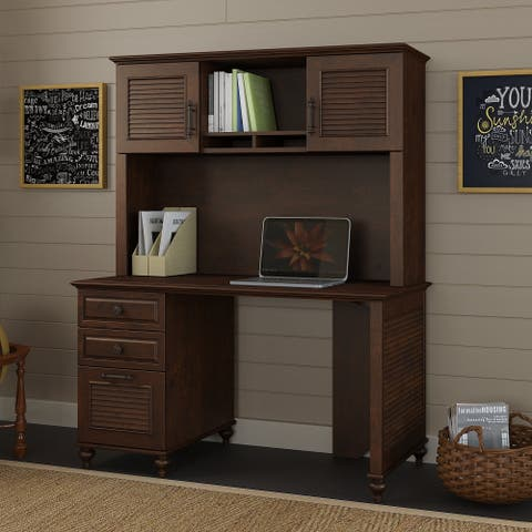 Volcano Dusk 51W Desk, Hutch, File from kathy ireland Home by Bush Furniture