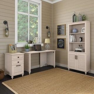 kathy ireland® Office Volcano Dusk 51W Desk Office Suite in Driftwood