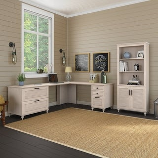 Volcano Dusk L Desk with Storage from kathy ireland Home by Bush Furniture