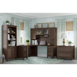 Kathy Ireland Volcano Dusk Collection Cherry Home Office Furniture Set