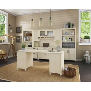 kathy ireland® Office Volcano Dusk Double Pedestal Desk Office Suite