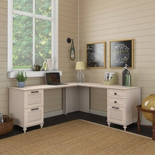 Volcano Dusk L Desk with Drawers from kathy ireland Home by Bush Furniture