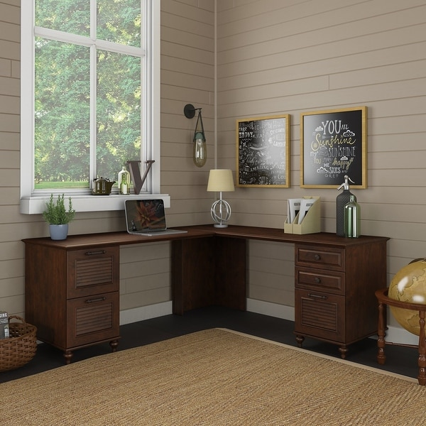 Shop Volcano Dusk L Desk With Drawers From Kathy Ireland