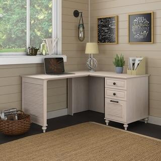l shaped desk for home office. Kathy Ireland Office Volcano Dusk L Shaped Desk, Pedestal In Driftwood L Shaped Desk For Home Office