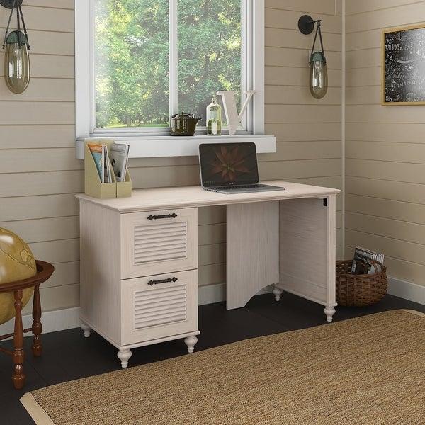 kathy ireland® Office Volcano Dusk 51W Desk with 2 Drawer Pedestal