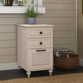 kathy ireland Office Volcano Dusk 3 Drawer File Cabinet in Driftwood Dreams