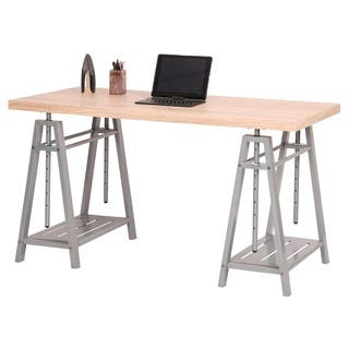 OS Home and Office Hollow Core Adjustable Height Writing Desk