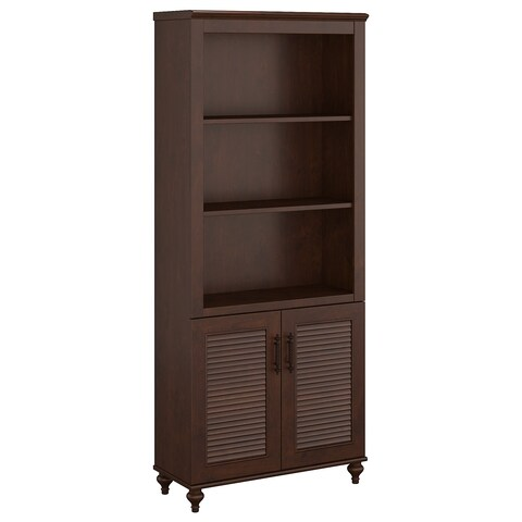kathy ireland® Office by Volcano Dusk Bookcase with Doors
