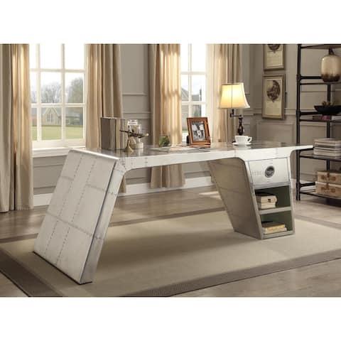 Acme Furniture Brancaster Aluminum Patchwork Desk