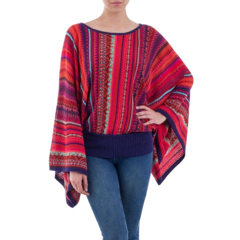 Handmade Acrylic Alpaca 'Cuzco Dance' Sweater (Peru)