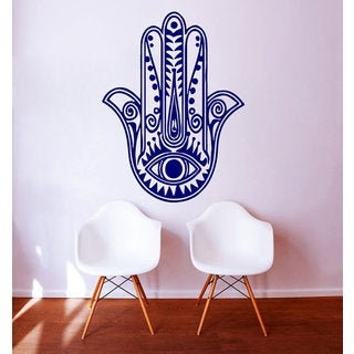 Indian Art Hamsa Hand Sticker Mandala Decor Home Design Interior Vinyl Decal Bedroom Decor Sticker D