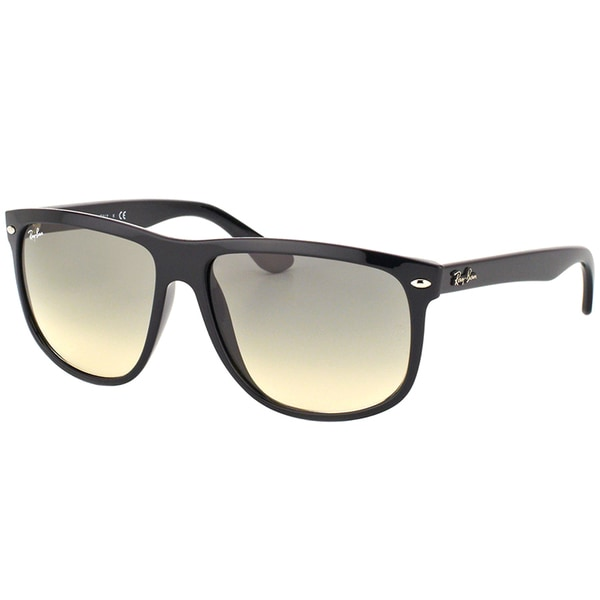 7f42e3f3685 Ray-Ban RB 4147 601 32 Black Plastic Square Sunglasses with Crystal Grey  Gradient
