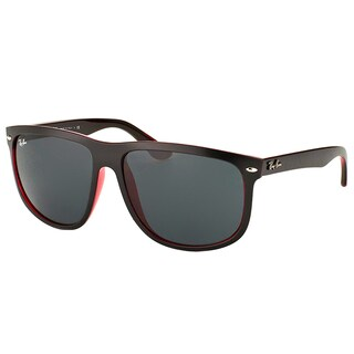 Ray-Ban RB 4147 617187 Matte Black On Red Crystal Plastic Square Sunglasses with Dark Grey Lens