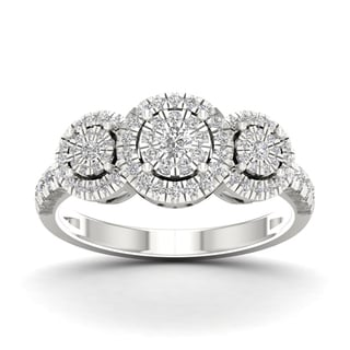 De Couer 1/2ct TDW Diamond Cluster Ring