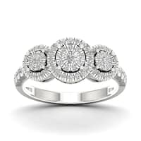De Couer 1/2ct TDW Diamond Cluster Ring - White