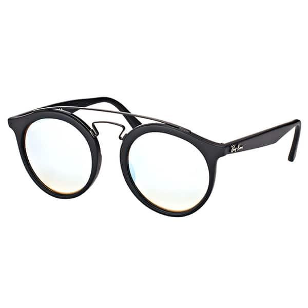 8d26cd24d0 Ray-Ban RB 4256 6253B8 Gatsby I Matte Black Plastic Fashion Sunglasses with  Grey Mirrored