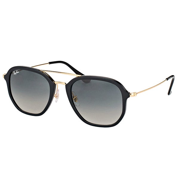 3d08627f62 Ray-Ban RB 4273 601 71 Black Plastic Square Sunglasses with Green Gradient  Lens