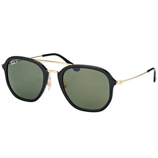 Ray-Ban RB 4273 601/9A Black Plastic Square Sunglasses with Green Polarized Lens