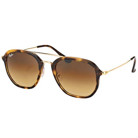 Ray-Ban RB 4273 710/85 Havana Plastic Square Sunglasses with Brown Gradient Lens