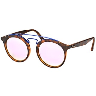 Ray-Ban RB 4256 6266B0 Gatsby I Matte Havana Plastic Fashion Sunglasses with Lilac Mirrored Gradient Lens