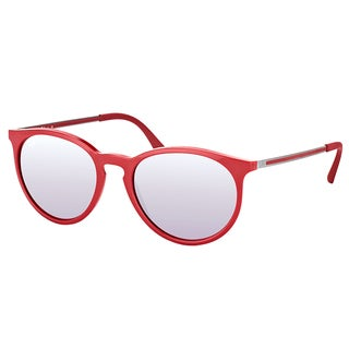 Ray-Ban RB 4274 6261B5 Bordo' Plastic Round Sunglasses with Pink Silver Mirror Lens