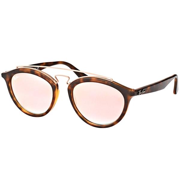 dcd39ada783 Ray-Ban RB 4257 6267B9 Gatsby II Matte Havana Plastic Fashion Sunglasses  with Copper Mirrored
