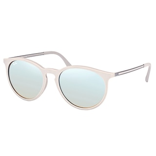 Ray-Ban RB 4274 6262B8 Rubber Grey Plastic Round Sunglasses with Grey Mirrored Gradient Lens
