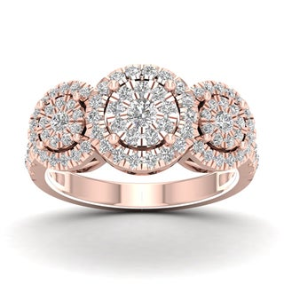 De Couer 1ct TDW Diamond Cluster Ring