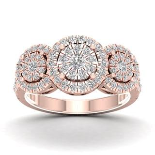 De Couer 1ct TDW Diamond Cluster Ring (H-I, I2)