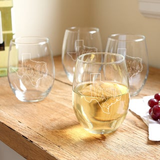 My State 21-ounce Stemless Wine Glasses (Pack of 4)