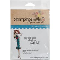 "Stamping Bella Cling Stamp 6.5""X4.5""-Uptown Girl Opal The Optimist"