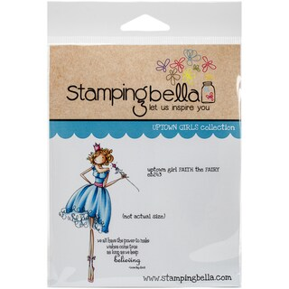 """Stamping Bella Cling Stamp 6.5""""X4.5""""-Uptown Girl Faith The Fairy"""