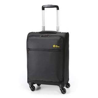 City Traveler Durable Nylon 18-inch Lightweight Business Carry-on Spinner Suitcase