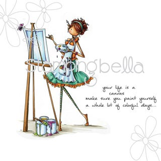 Stamping Bella Cling Stamp 6.5X4.5-Uptown Girl Abigail The Artist