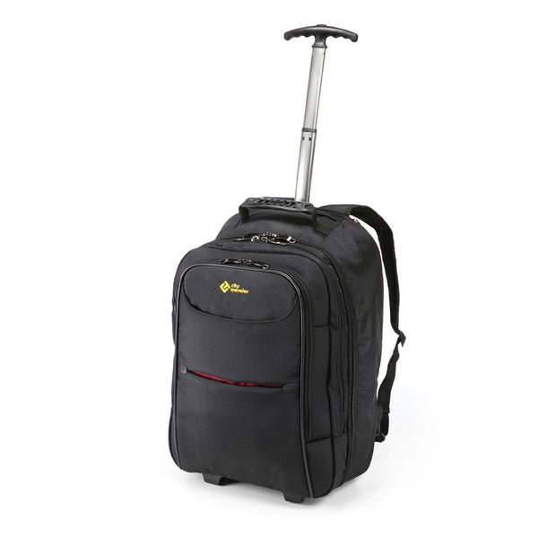 City Traveler Durable Nylon Business Carry-on Rolling Backpack ...