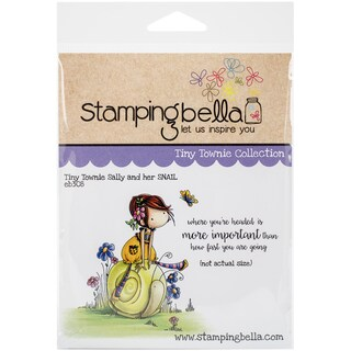 """Stamping Bella Cling Stamp 6.5""""X4.5""""-Tiny Townie Sally & Her Snail"""