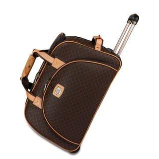 Rioni Signature Brown 21-inch Rolling Fashion Duffel Bag|https://ak1.ostkcdn.com/images/products/14442221/P21006675.jpg?impolicy=medium