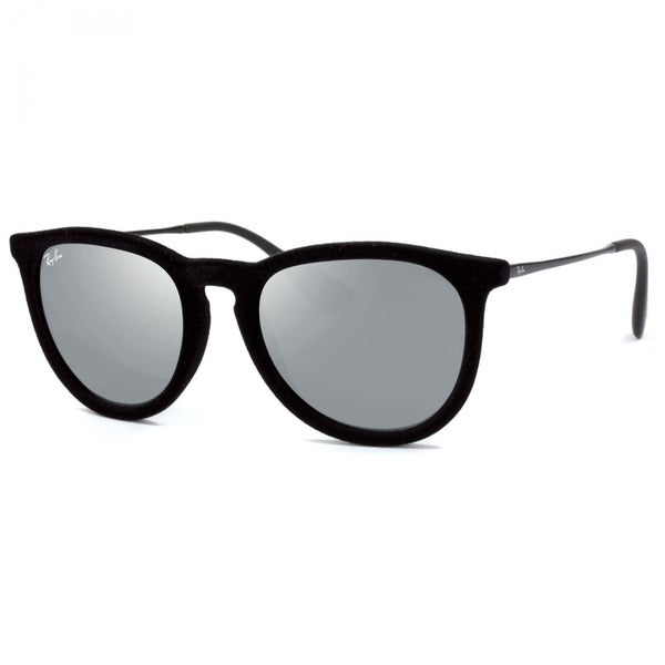 12960b46ff Ray-Ban RB4171 60756G Erika Velvet Black Frame Grey Mirror 54mm Lens  Sunglasses