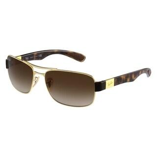 Ray-Ban RB3522 001/13 Gold/Tortoise Frame Brown Gradient 61mm Lens Sunglasses