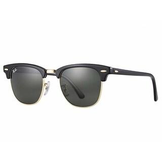 Ray-Ban RB3507 136/N5 Clubmaster Aluminum Black Frame Polarized Green 51mm Lens Sunglasses