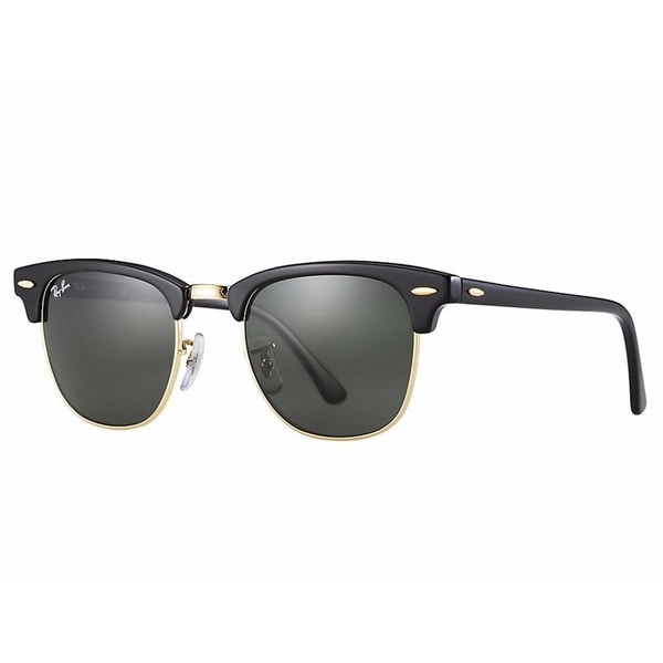eefe2562208bf Ray-Ban RB3507 136 N5 Clubmaster Aluminum Black Frame Polarized Green 51mm  Lens Sunglasses
