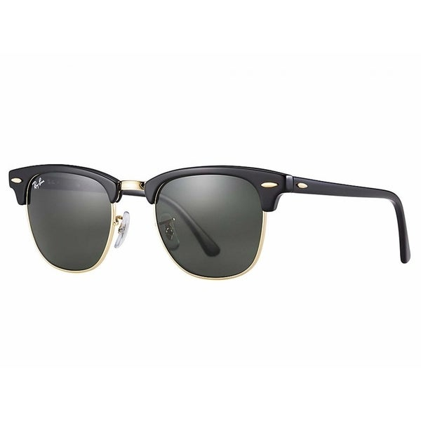 d17afd3fd2 Ray-Ban RB3507 136 N5 Clubmaster Aluminum Black Frame Polarized Green 51mm  Lens Sunglasses