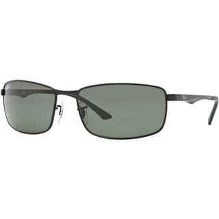 Ray-Ban RB3498 002/9A Black Frame Polarized Green Classic 64mm Lens Sunglasses