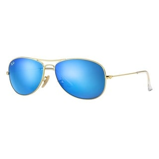 Ray-Ban RB3362 112/17 Cockpit Gold Frame Blue Flash 59mm Lens Sunglasses
