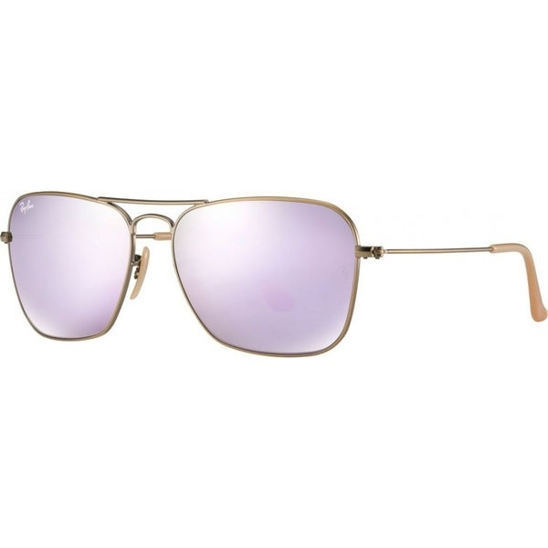 6e1c7ba874448 Ray-Ban RB3136 167 4K Caravan Bronze-Copper Frame Lilac Mirror 58mm Lens